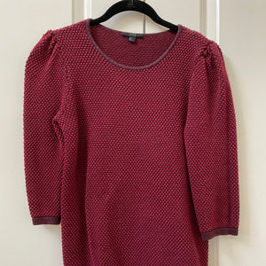 COS Textured Knit Jumper in Cherry